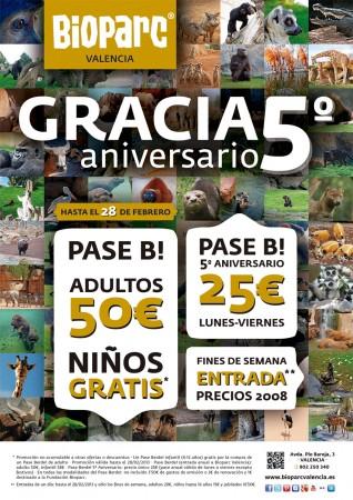 5 aniversario bioparc valencia promociones especiales for Promociones oceanografic