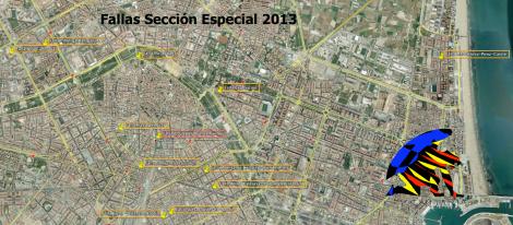 Mapa Fallas Sección Especial 2013