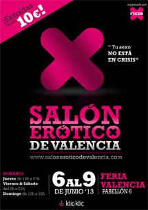 Cartel Salón Erótico Valencia 2013