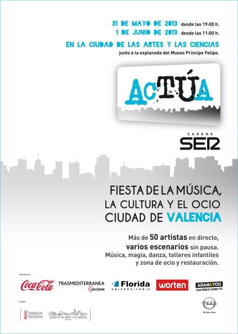 CARTEL FESTIVAL ACTÚA VALENCIA 2013