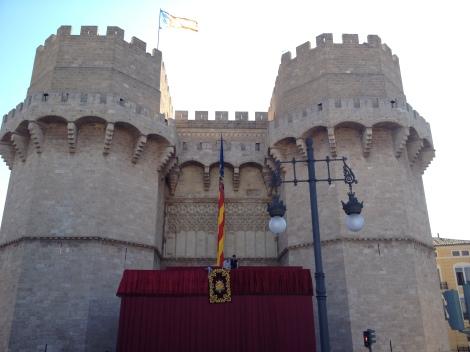 Torres de Serranos Valencia y Senyera