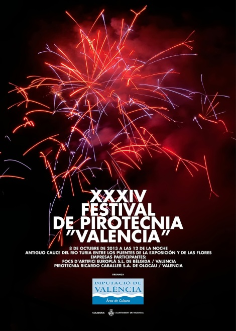 CARTEL FESTIVAL PIROTECNIA VALENCIA 2013