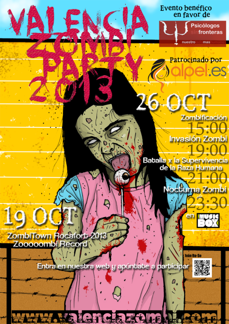 Valencia Zombi Party 2013 Cartel