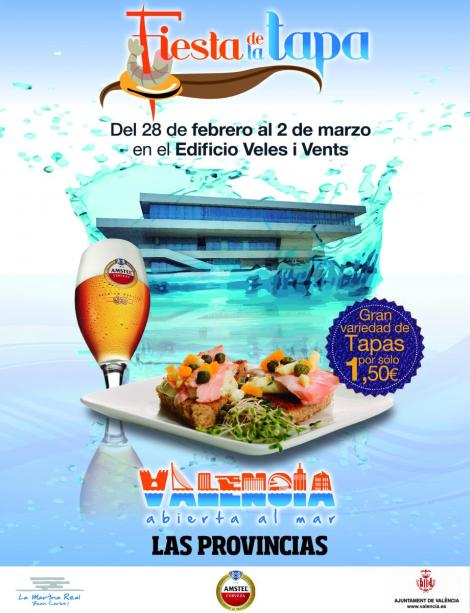 Cartel Feria de la Tapa febrero-marzo Valencia 2014