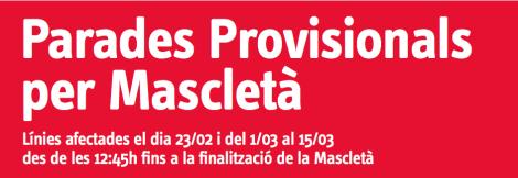Paradas Provisionales EMT Valencia Fallas 2014