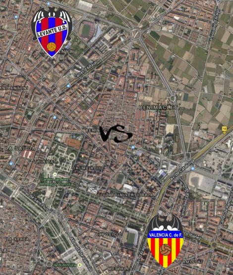 Orriols Mestalla Derby
