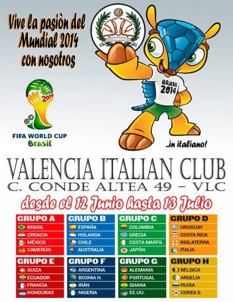 el Muncial de Brasil en el VIC Valencia Italian Club
