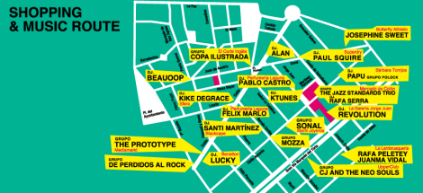 Shopping & Music Route Valencia 2014