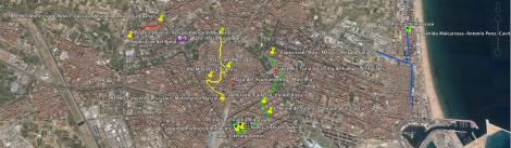 Mapa Rutas Fallas Sección Especial Valencia 2015 Premios