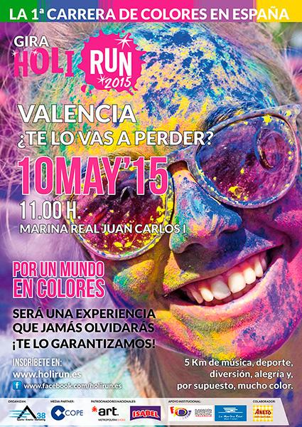 Cartel HoliRun Valencia 2015