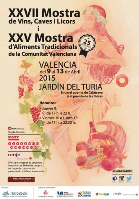 Cartel Muestra Vinos Valencia 2015