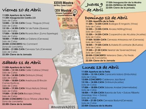 INFO Muesta de vinos Valencia 2015