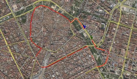 Recorrido Volta a Peu Valencia 2015