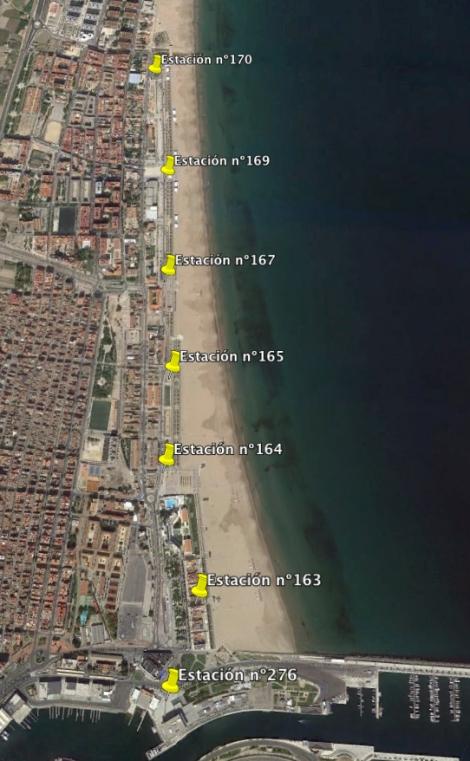 Paradas Valenbisi Playas Valencia