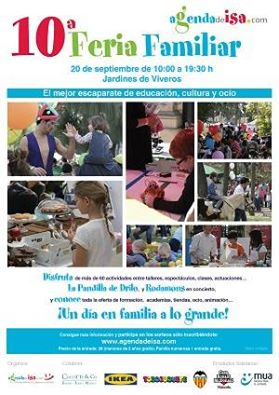 Cartel 10 feria familiar valencia 2015