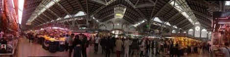 Panorámica Mercado Central Valencia Legendaria