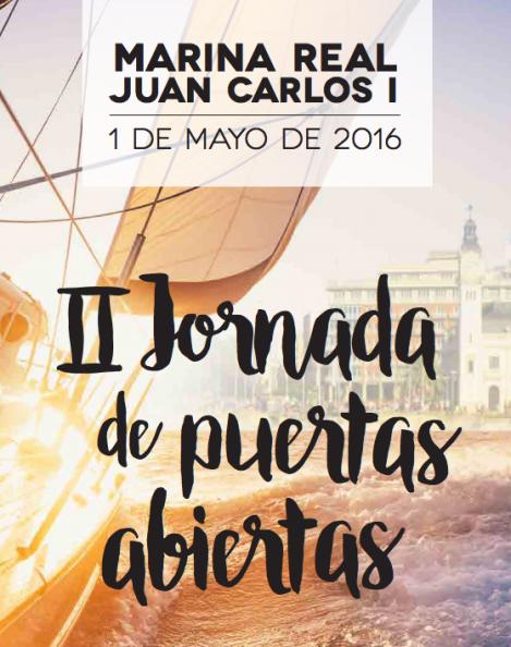 Cartel II Jornadas Puertas Abiertas Marina Real Valencia 2016