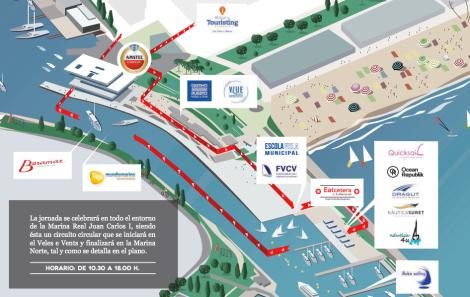 Mapa II Jornadas Puertas Abiertas Marina Real Valencia 2016
